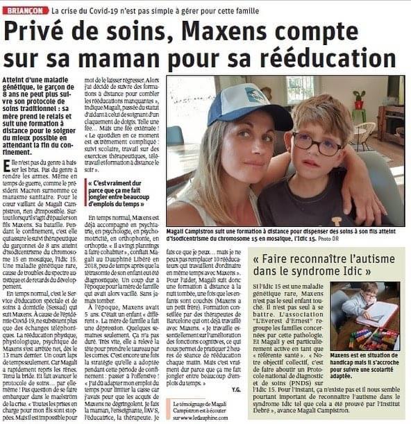 Privé de soins, Maxens compte sur sa maman pour sa rééducation