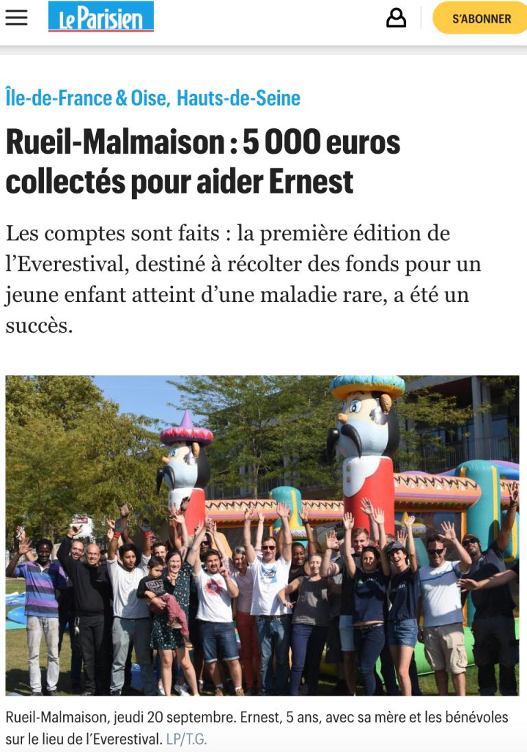 Rueil-Malmaison : 5 000 euros collectés pour aider Ernest